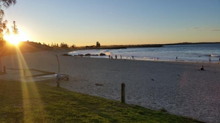 Town Beach at Sunset